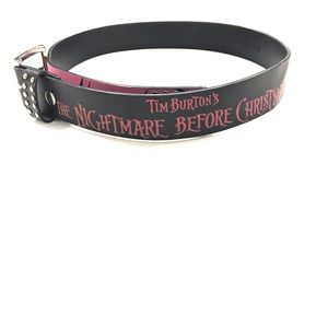 Nightmare Before Christmas Leather Belt size 34